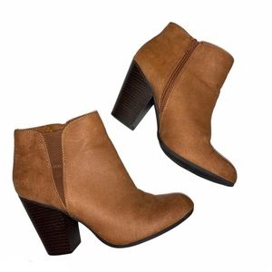 Fergalicious punch tan suede ankle boots - 8.5
